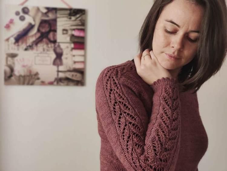 Maloraé Desgns - Watsonia - Pull en dentelle et dents de chat au tricot pour femme