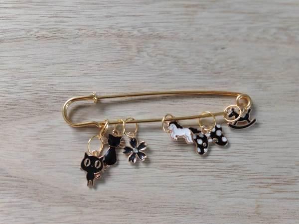 Lot anneaux marqueurs - Black and Gold 1 - Maloraé Designs