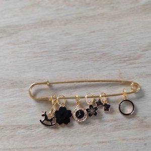 Lot anneaux marqueurs - Black and Gold 5 - Maloraé Designs