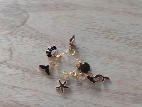 Lot anneaux marqueurs - Black and Gold 3 - Maloraé Designs