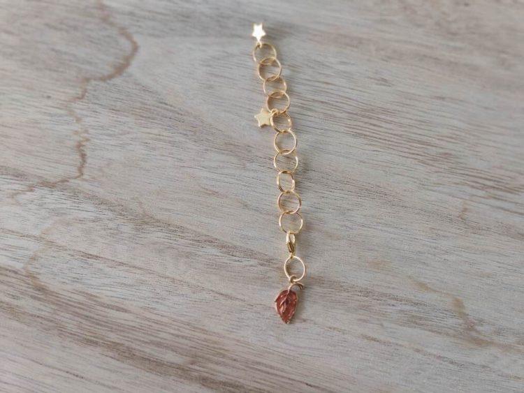Compte rangs - Feuille rose - Maloraé Designs