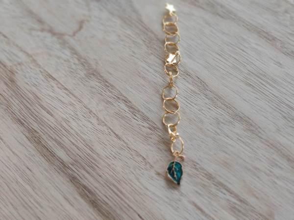 Compte rangs - Feuille bleue- Maloraé Designs