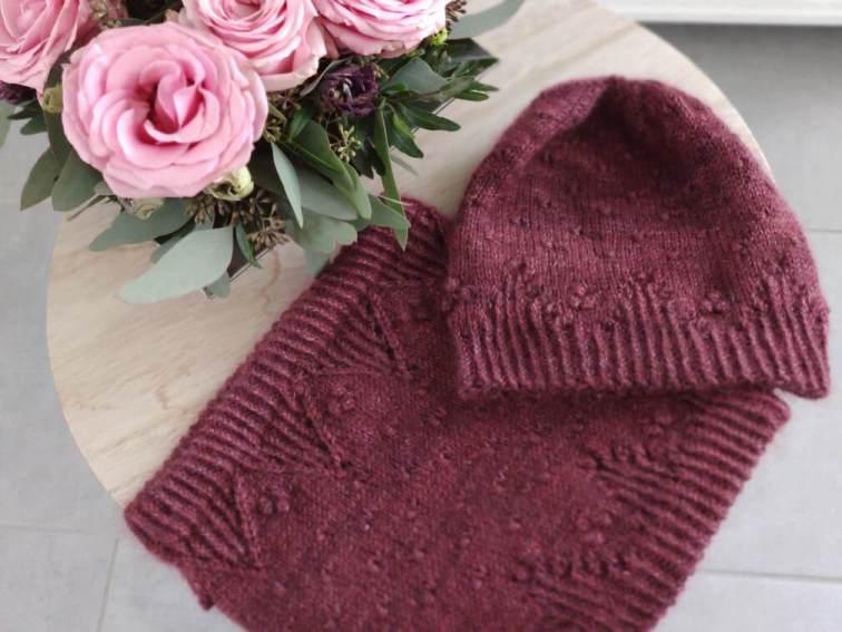 Malva (hat & cowl) - Modèles au tricot - Maloraé Designs