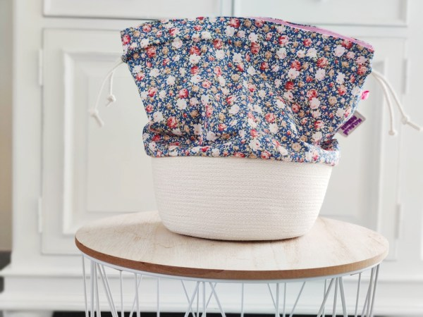 Panier à projets tricot - Fleuris - Taille M - Maloraé Designs