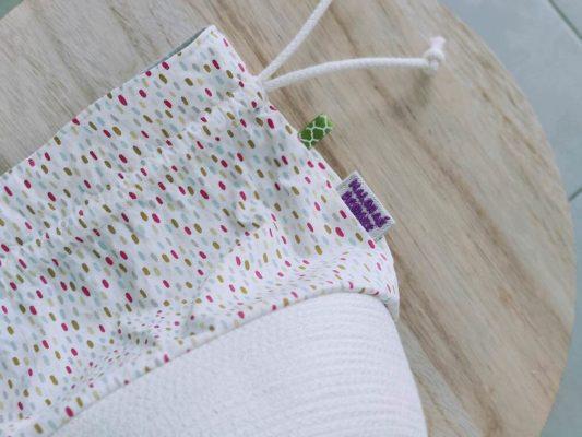 Panier à projets tricot - Speckles - Taille M - Maloraé Designs