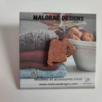 Pin's Albizia - Tricot - Maloraé Designs