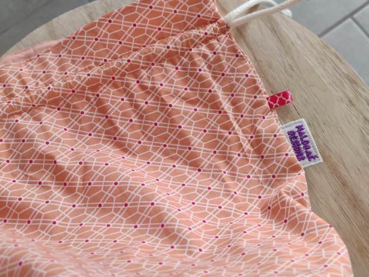 Panier à projets tricot - Orange - Taille L - Maloraé Designs