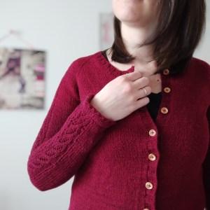Watsonia cardigan - Gilet raglan au tricot - Femme - Maloraé Designs