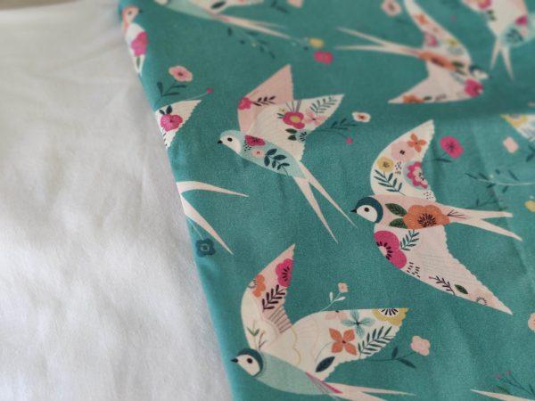 Précommande panier projets tricot - Choix tissu - Hirondelles - Maloraé designs
