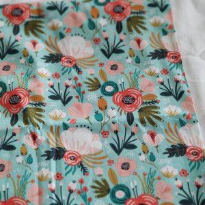Précommande panier projets tricot - Choix tissu - Aqua - Maloraé designs
