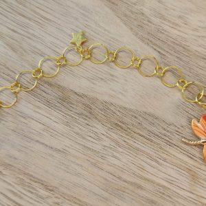 Compte-rangs tricot - Libellule orange - Accessoires tricot - Maloraé Designs