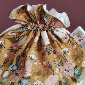 Panier projet tricot - Taille M - Moutarde - Maloraé Designs
