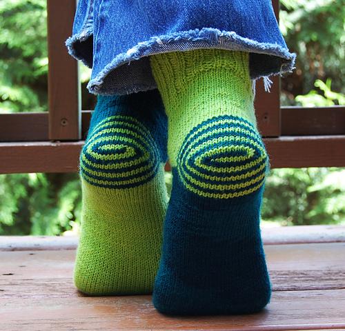 Double Heelix - Tricot chaussettes - Patrons gratuits - Maloraé Designs