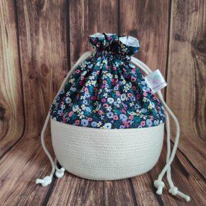 Panier projet tricot - Fleuris - Taille M - Maloraé Designs