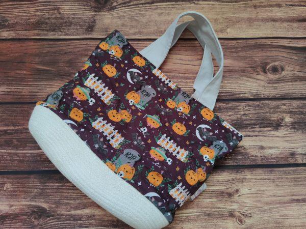 Panier projet tricot Nomade- Citrouille - Taille M - Maloraé Designs