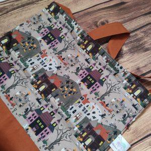 Tote bag - projet tricot - Manoir hanté - Taille L - Maloraé Designs