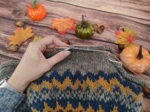 Little Uncinia- Pull jacquard tricot enfant - Maloraé designs
