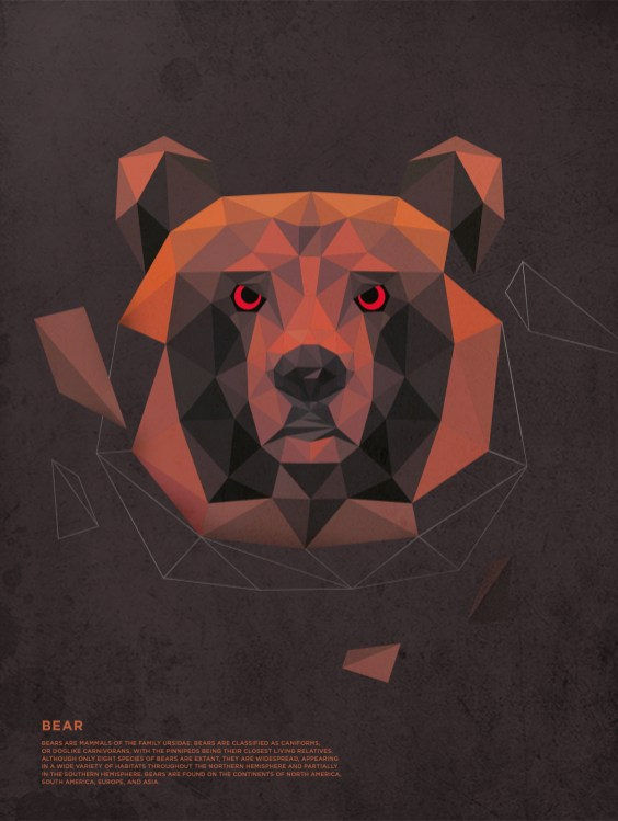 Polygonal-Animals-Bear