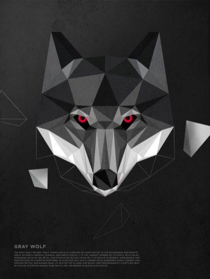 Polygonal-Animals-Wolf