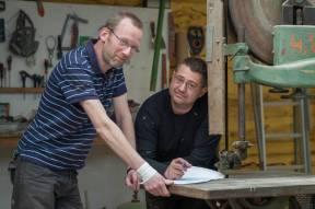Pierre, salarié, et Julien, patron du chantier de la Passagère