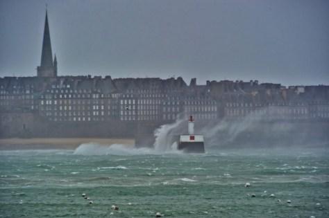 Grandes marées Saint Malo 9 et 10 mars 2016