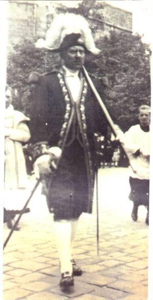 Le grand-père de Peter en costume de garde-suisse