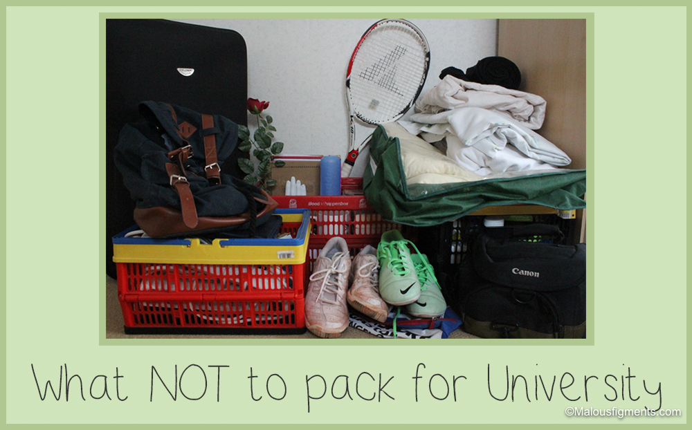 What not to pack for university