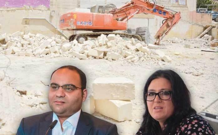 Finance Minister Clyde Caruana and Malta Developers Association CEO Deborah Schembri