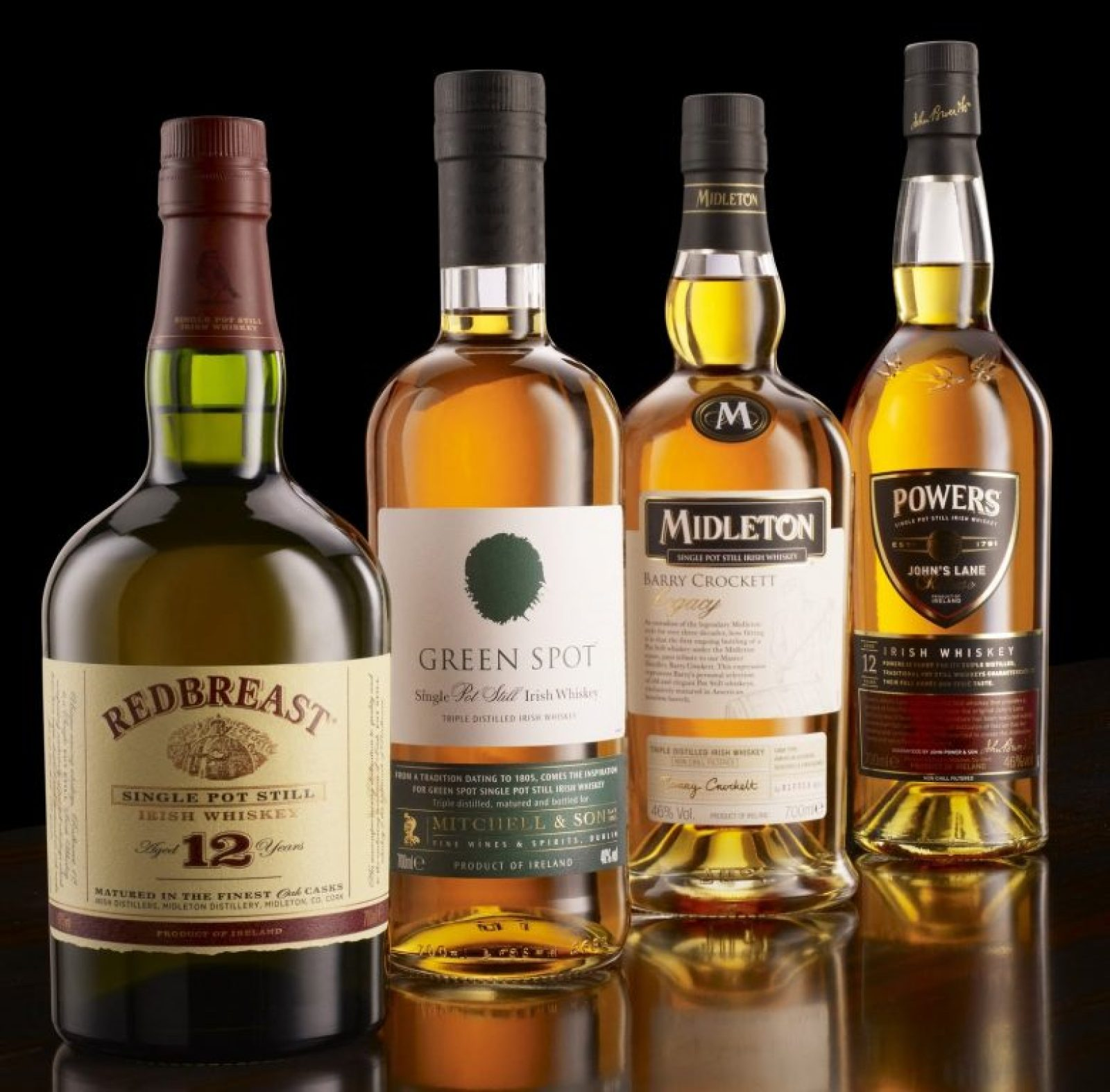 Midleton's Four Styles of Pot Still Whiskey Photo Credit: angelshare.it