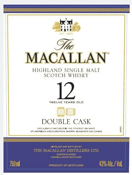 Double Cask Label As Shown on the TTB Site