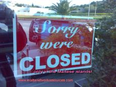 Sorry were closed
