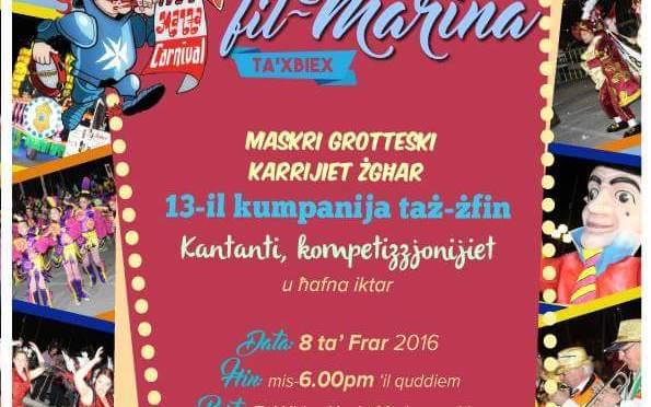Malta Carnival 2016 Programme – Karnival ta' Malta 2016 Programm u Rizultati