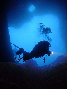 Cavern Diving at Wied Bassasa Malta