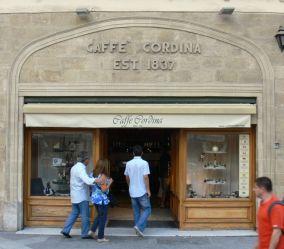 A Caffé Cordina Vallettában