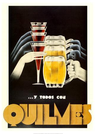 Anuncio antiguo cerveza Quilmes