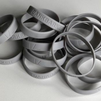 Armbänder Dankbarkeit grau