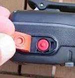 ハンディー機のDISTRESSボタン