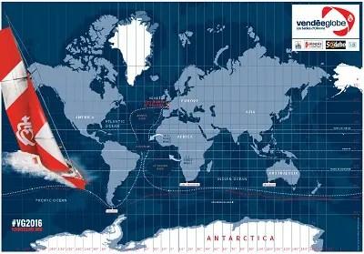 VendéeGlobeコースマップ