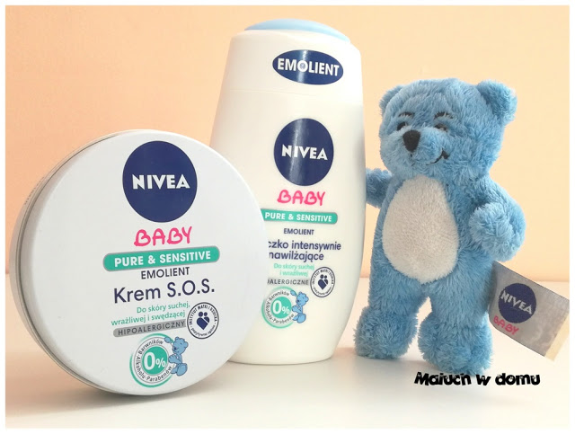 Krem S.O.S i mleczko intensywnie nawilżające z serii NIVEA Baby Emolienty