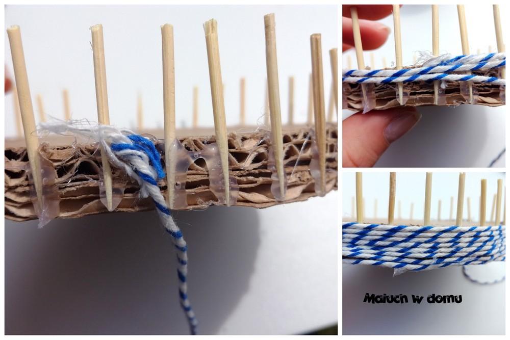 DIY szkatułka z tektury i sznurka