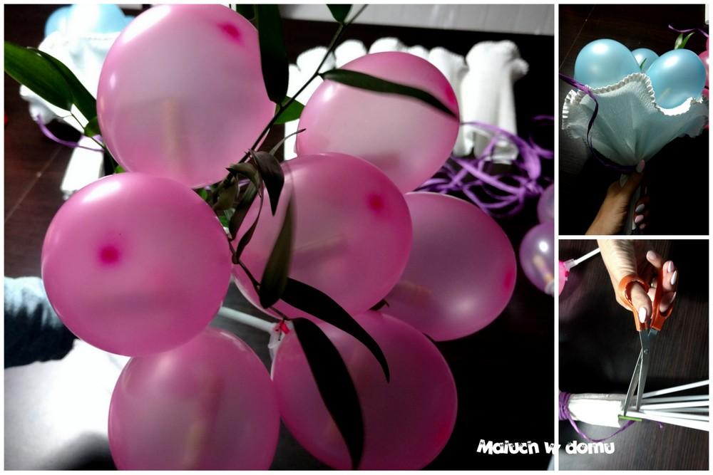 Bukiet z balonów ze zdrapkami zamiast kwiatów