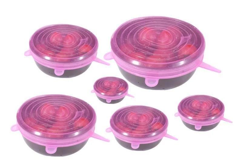 Kit de Tampas Flexíveis de Silicone (6 pçs)