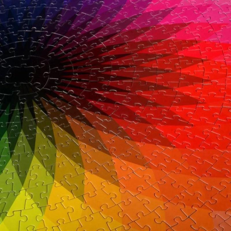 Quebra-Cabeça Arco Íris Geométrico 1000 Peças