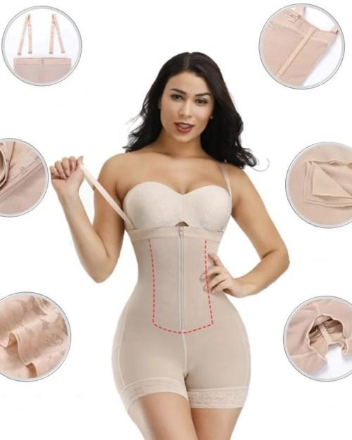 Short feminino modelador de barriga, cintura e nádegas.