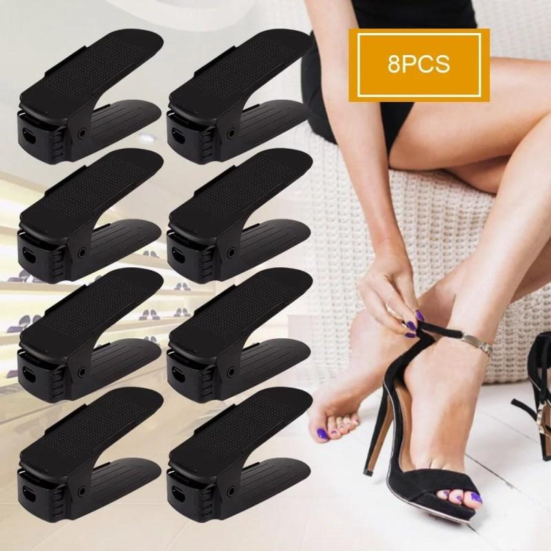 Organizador De Sapatos Regulável - 8pcs