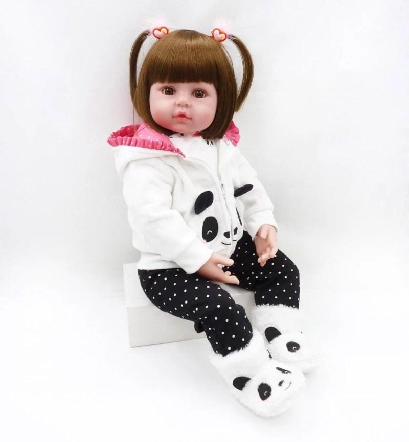 Boneca Bebê Reborn Malu Super Linda, Fashion E Prontinha Pro Outono Inverno