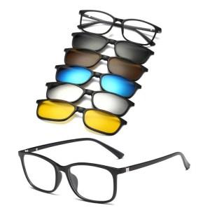 Óculos New Retro Multicor 5 Em 1 Com Imã