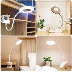 Luminária Moderna de LED - Branca - USB