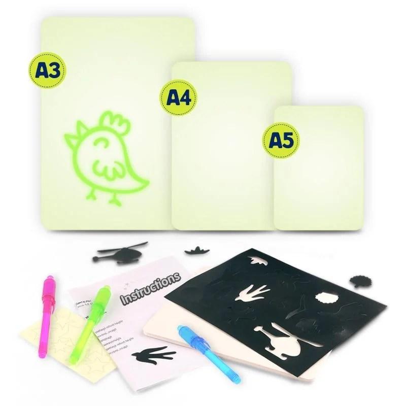 Prancheta Luminosa DrawLight Para Crianças