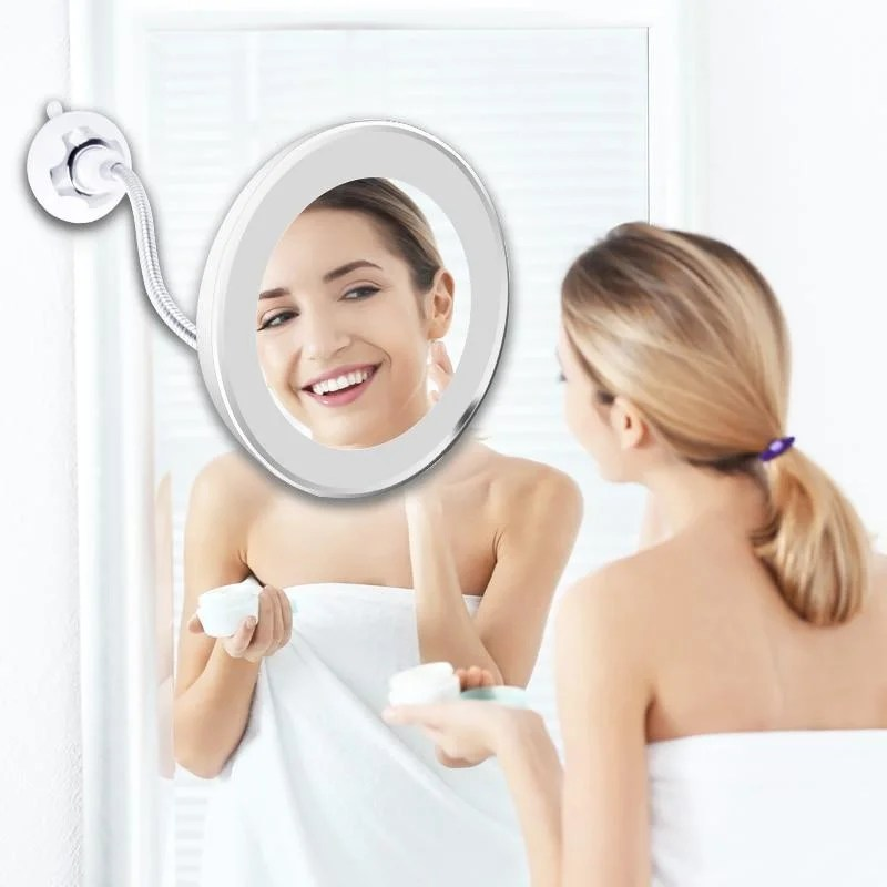 Espelho Flexível 360° Led